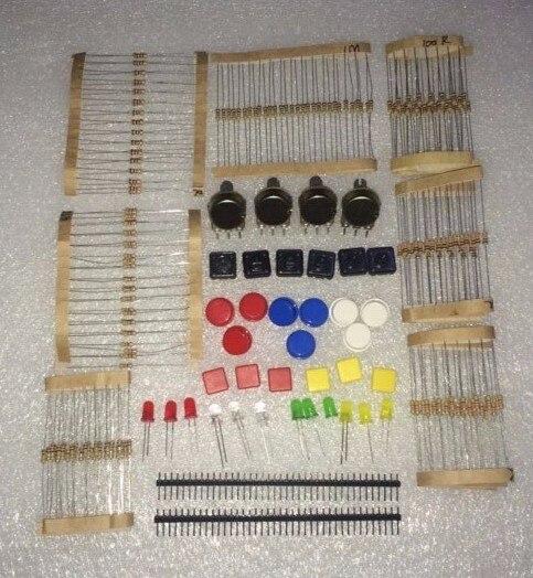 Rapide Bateau Libre Pour Arduino Kit pièces paquet commun composants Électroniques suite kit A1 pour conseil de développement