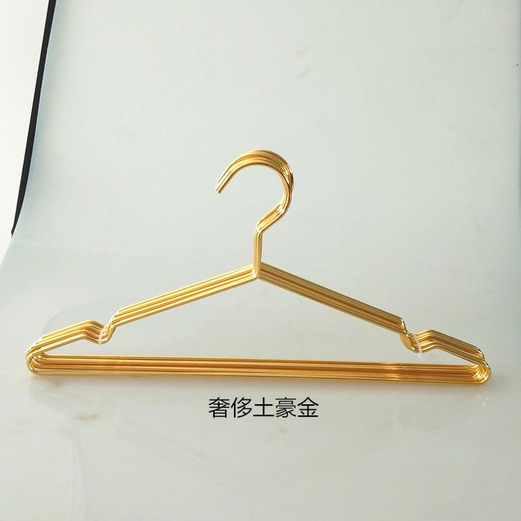 jetdio 45/cm fuerte perchas de alambre de metal perchas de ropa, perchero, est/ándar traje perchas, perchas, 30/unidades color dorado