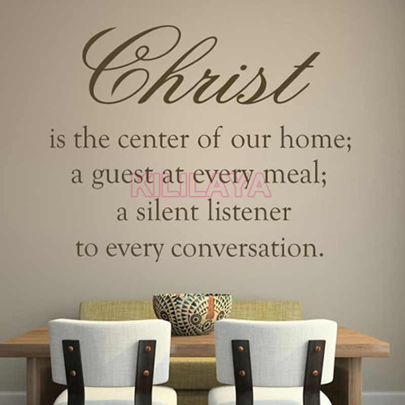 christian christ is the centre of our home vinyl wall sticker wall