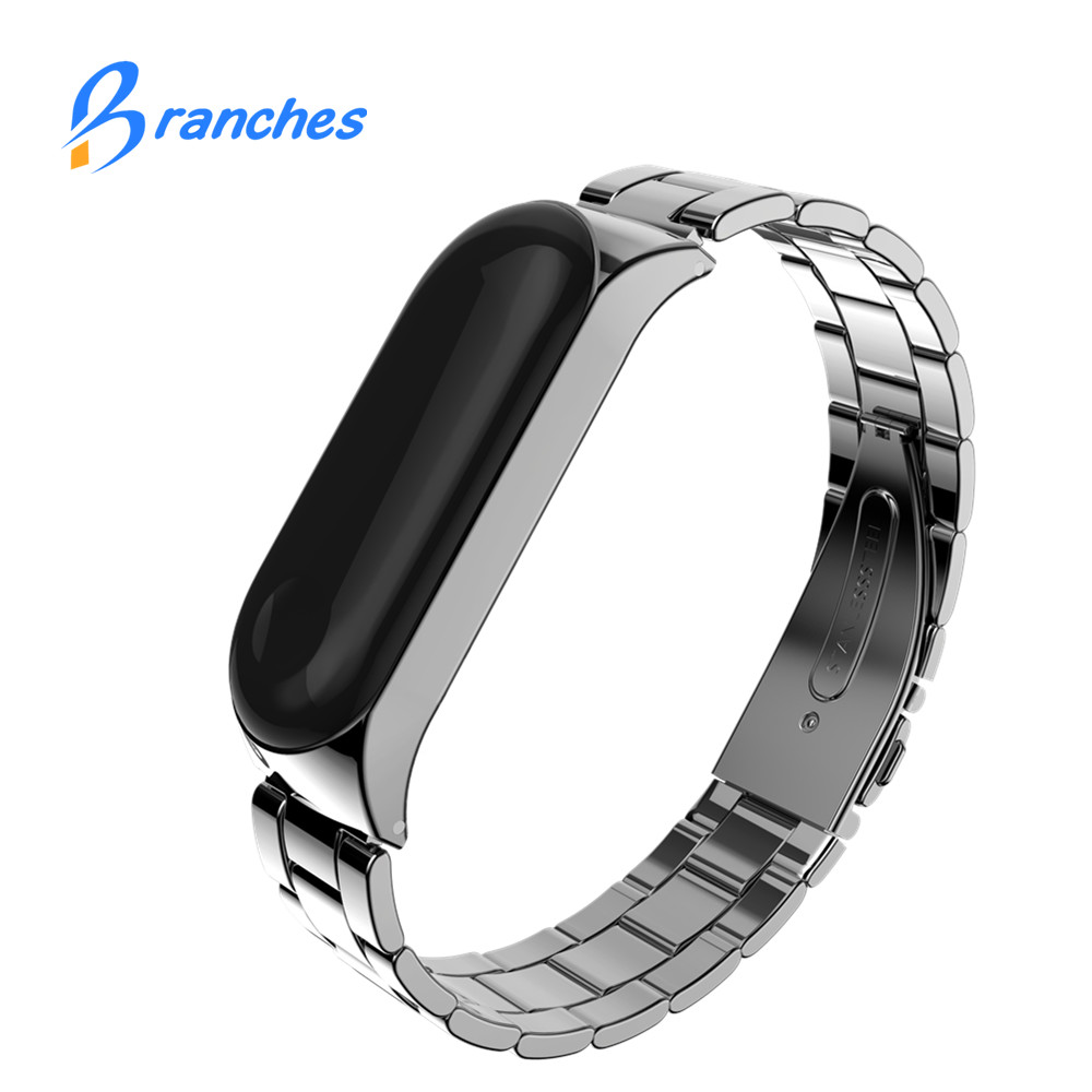 Mi Band 3 Wrist Strap Metal For Xiaomi Mi Band 3 Screwless Stainless Steel Bracelet Miband 3 Wristbands Pulseira Miband3 Strap
