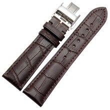 18mm 19mm 20mm 21mm 22mm Accesorios Bandas Correa Pulseras para relojes de marca reloj Mecánico Negro Promoción Brown cuero de Vaca
