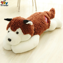 Plush Simulation Cute Husky Dog Puppy Dogs Toy Stuffed Animal Doll Kids Baby Friend Birthday Gift Present Home Shop Deco Triver