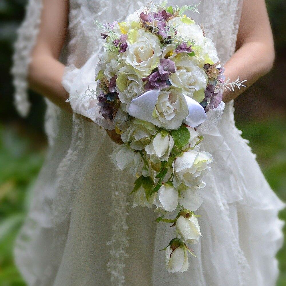TB2EiTsX6nyQeBjSspbXXazUXXa_!!604391407  MissRDress 2018 Waterfall purple white Marriage ceremony Flowers Bridal Bouquets Synthetic Marriage ceremony Bouquets Rose JKPP03 HTB1mkOQyH9YBuNjy0Fgq6AxcXXa1