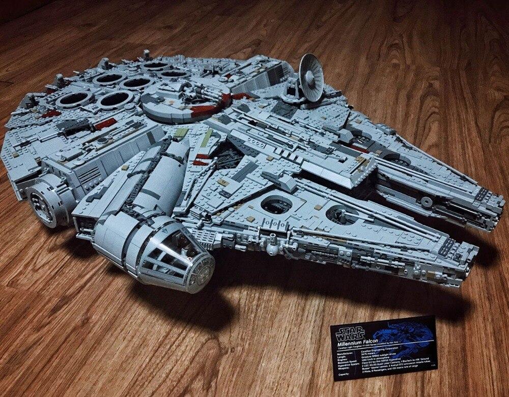 Звездный Разрушитель Сокол Тысячелетия Модель Building Block кирпича игрушки 8445 шт. Совместимость с Legoings Star Wars 75192
