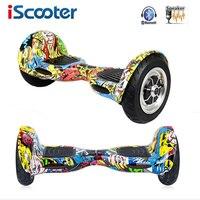 IScooter Hoverboard 10 cal Skateboared 2 Koła Bluetooth Inteligentny Bilans Skuter 10 cal Hover pokładzie Oxboard kierownicy