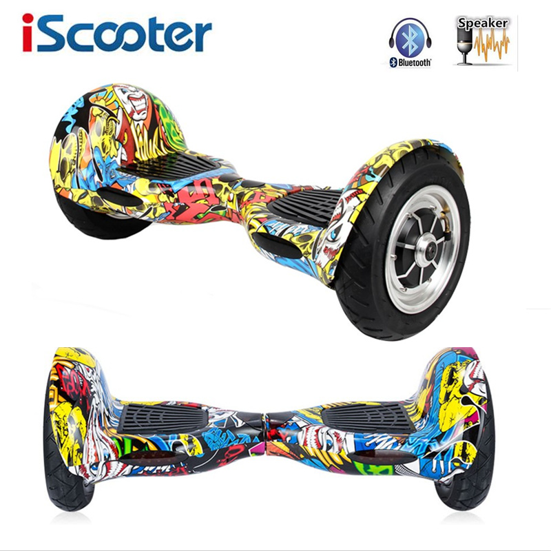 iScooter Hoverboard 10 inch Bluetooth Skateboared 2 Wheels Smart Balance Scooter 10 inch Hover board Steering-wheel Oxboard