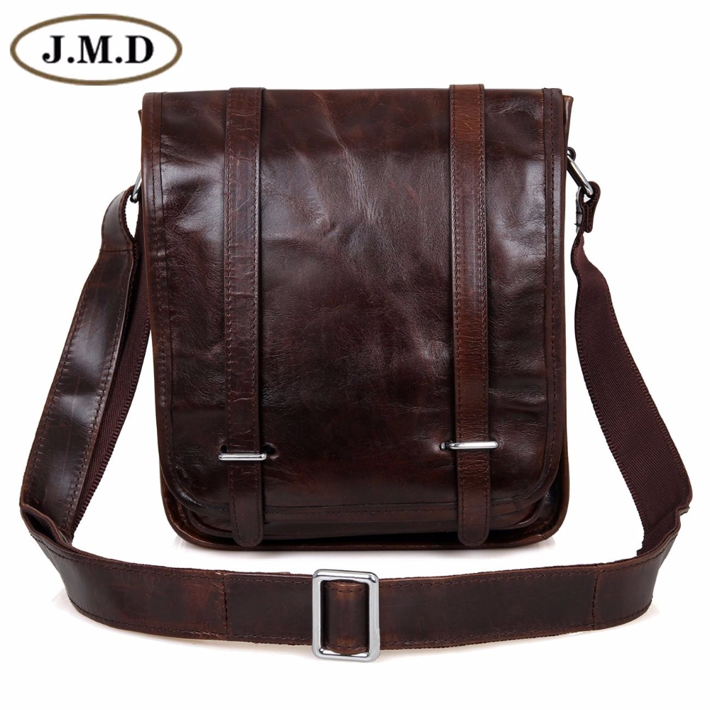 JMD Natural Real Cow Leather Sling Bag For Men's Messenger Bag Cross Body For Man Shoulder Bags 7109C j m d first layer cow leather flap bag classic and fashional messenger bag tiny cross body bag for young 7109c