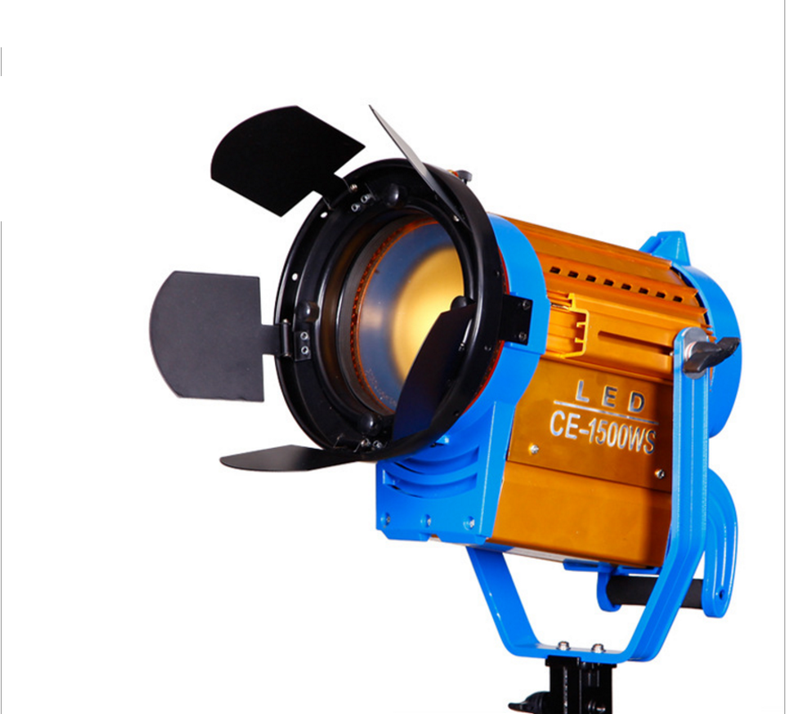 Wireless Remote + Bi color CE 1500WS LED Fresnel Video Spotlight Light