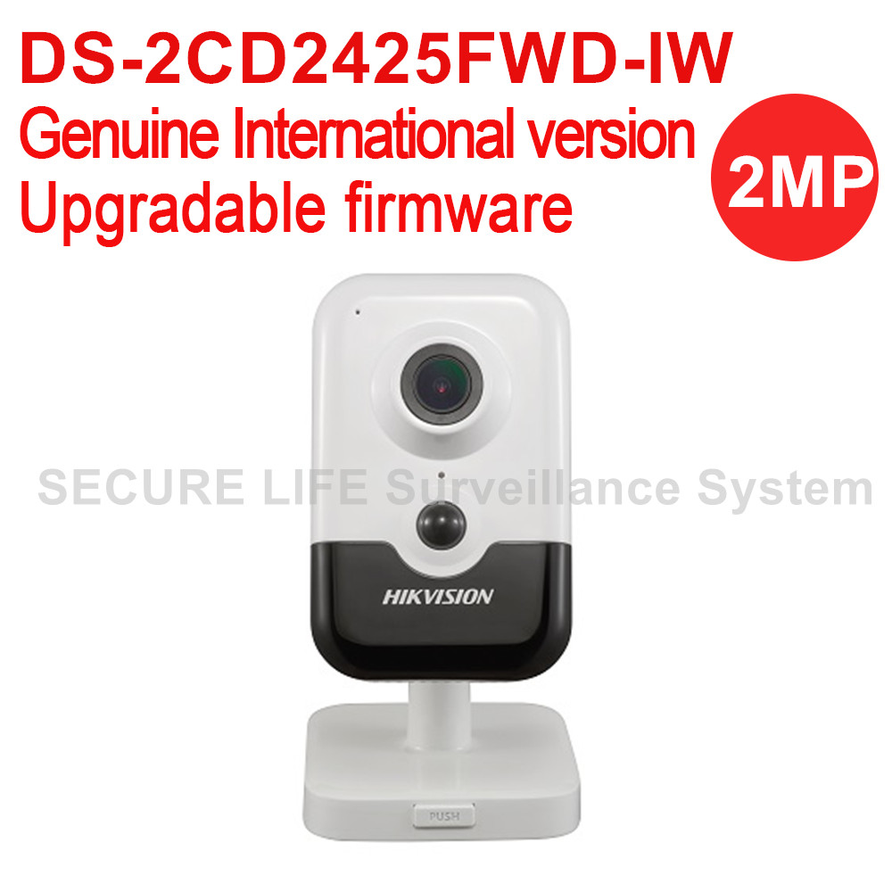 Hikvision DS-2CD2425FWD-IW international version 2MP EXIR Cube Network POE CCTV security Camera wifi, up to 10m IR, H.265 roland m cube gxr