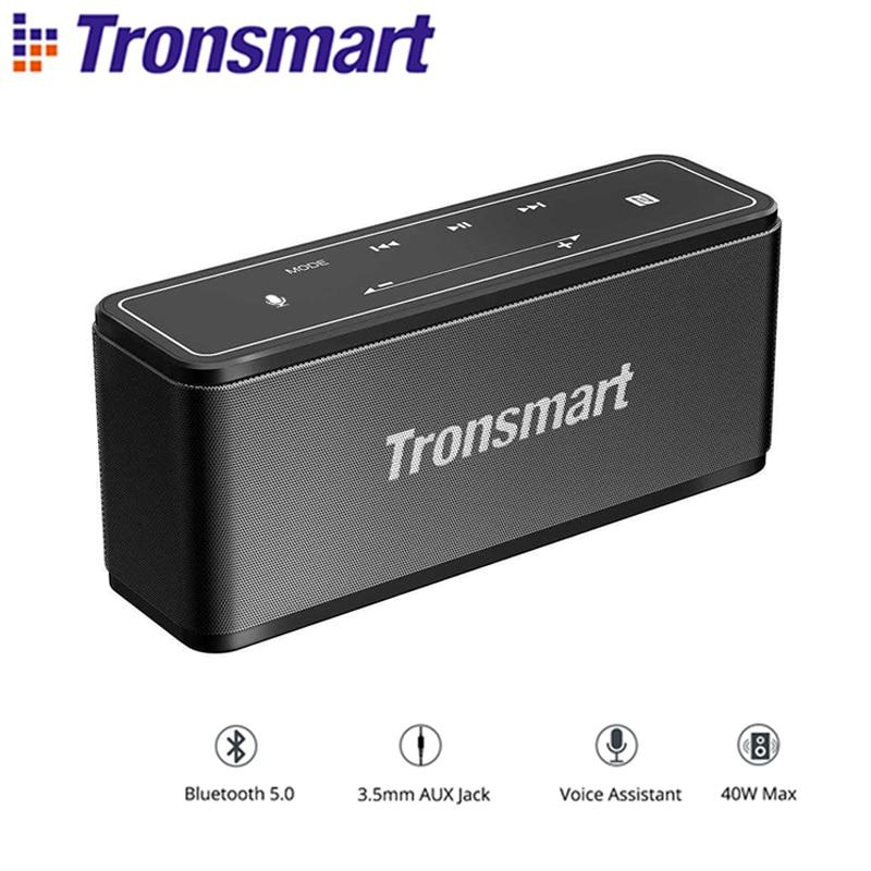 Tronsmart Mega Bluetooth 5,0 Lautsprecher Stimme Assistent Tragbare Lautsprecher 40W Drahtlose Lautsprecher Soundbar mit TWS, NFC, microSD Karte auf AliExpress - 11.11_Doppel-11Tag der Singles 1