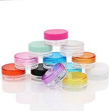 100 x 2G  Small Size Travel Cream Jar Bottles Makeup Nail Art Cosmetic Plastic Container Empty Sample Display Pot Tin Storage цены онлайн