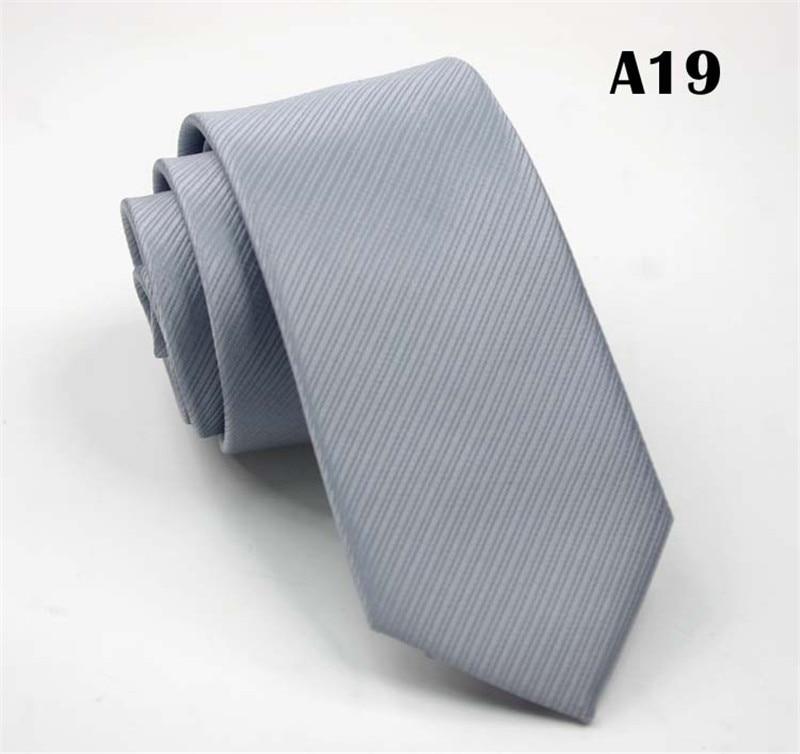 SCST Brand 2017 New Cravate 6cm Skinny Tie Slim Neckties Striped Solid Dark Grey Silk Ties For Men Wedding Necktie Gravata CR037