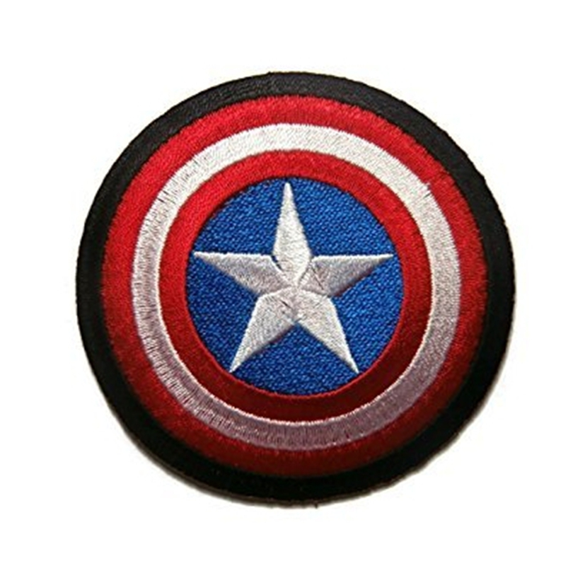 Captain America Den första Avenger Shield Marvel Superhero Cartoon Logo Kid Baby Boy Jacket T-shirt Patch Sign Presentdräkt