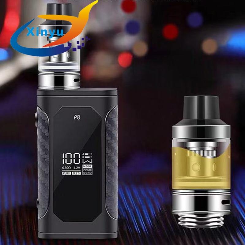 , 2pcs NEWEST Original 100W Starter Kit Shisha Pen Vaporizer Hookah Electronic Cigarette Metal Body Vape Atomizer Vaporizer kit
