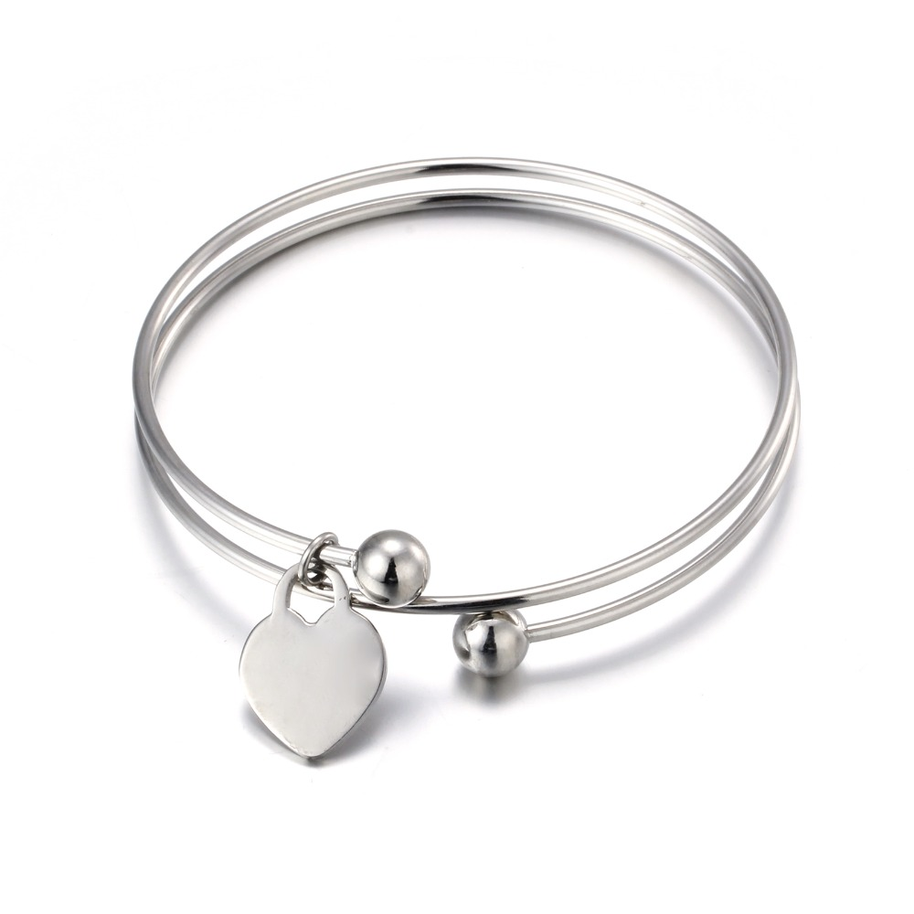 Stainless steel heart love bracelet pendant for L love jewelry reviews