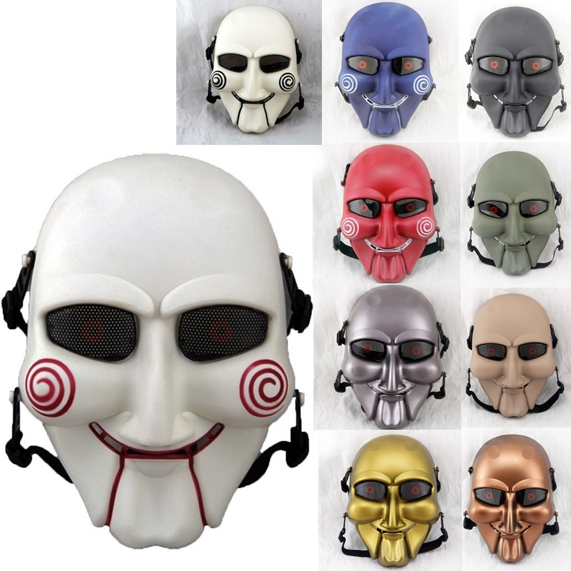 DC17 SAW Full Face Metal Mesh Military Tactical Airsoft Mask Paintbal CS Wargame Halloween Party Skull Soft Air Mask