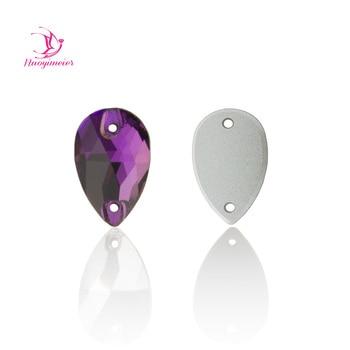 Amatista 3230 gota 7x12 11x18 13x22 17x28 piedras de cristal para coser diamantes de imitación parte posterior plana cristales ropa coser cuentas de tela