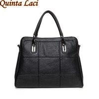 Quinta Laci Women Genuine Leather Women Handbags Spring Female Shoulder Bag Fashion Ladies Totes Ipad Pink
