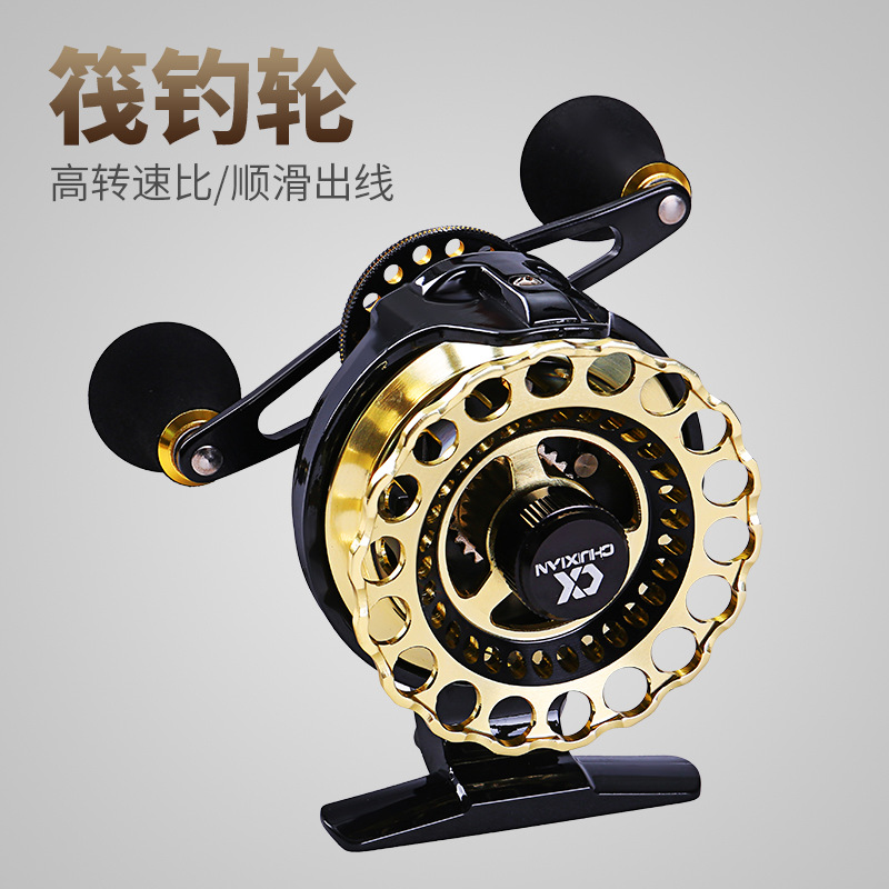 цена на 4.3:1 Full Metal Fishing Reels fishing wheel 7+1BB Right Left Hand Reel Rock fishing Spinning Trolling Coils Fly Reel