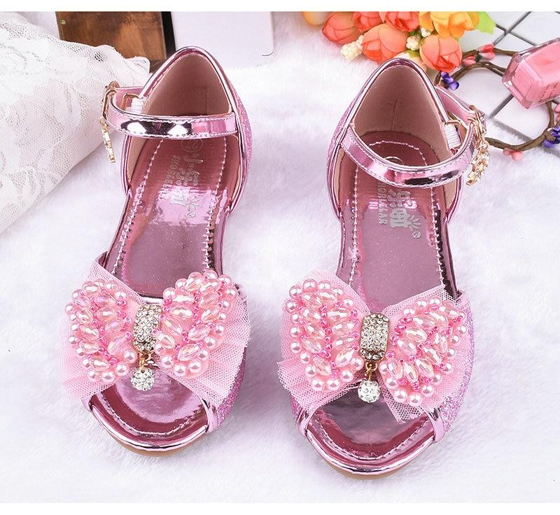 Heet verkoop zomer kinderen meisjes prinses sandalen bowtie partij - Kinderschoenen - Foto 3