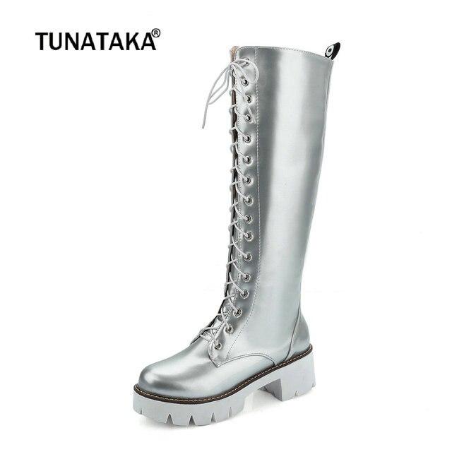 Damens Martin Stiefel Thick Heel Fashion Stiefel Stiefel Stiefel Platform Knee High Stiefel ... 01ffe3