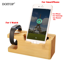 DOITOP Woody Extension Socket Power Outlet With Phone Stand Fast Charge For i Watch For Iphone Samsung EU US Plug Charge Socket