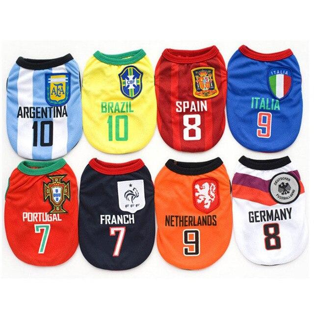 Ropa de perro mascota resumen deportes camisa para perros de fútbol Jersey Chaleco de perro cachorro de fútbol ropa para perros camiseta