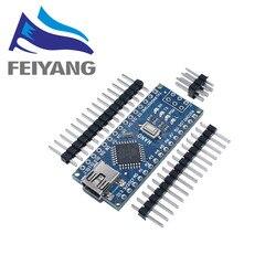 1PCS Mini USB Mit dem bootloader Nano 3,0 controller kompatibel für arduino CH340 USB fahrer 16Mhz NANO V3.0 atmega328P/168 P