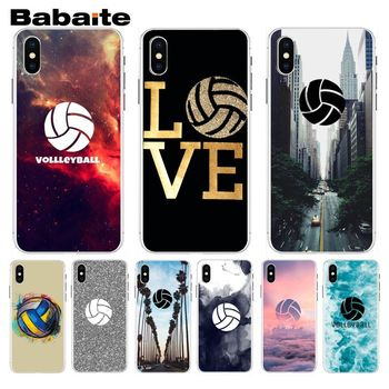 Babaite Volleyball Sports Typically Hard Phone Case For iphone 8 8plus and 7 7plus 6s 6s Plus 6 6plus 5s Cellphones image