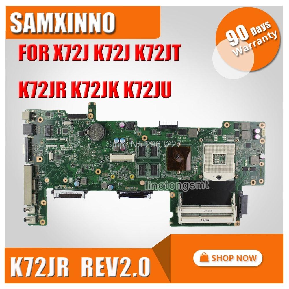 Hot selling For ASUS K72J K72JR K72JU K72JK K72JT 1GB DDR3 HM55 Original laptop Motherboard X72J