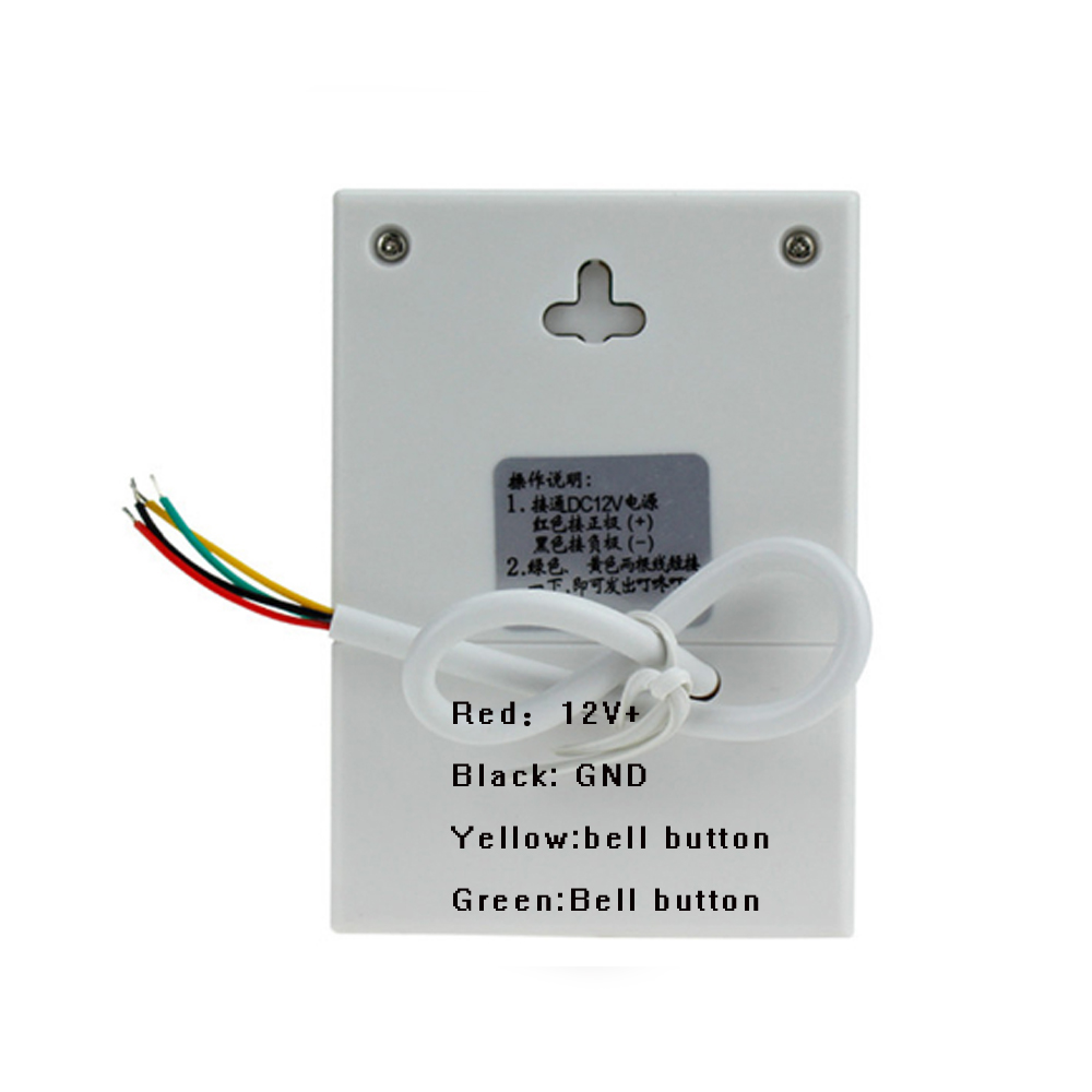 Dc12v Ding Dong Musical Wired Doorbell Door Bell Chime For Home Household Wiring Office Access Diy No Need Battery Electronic Ring In From Security