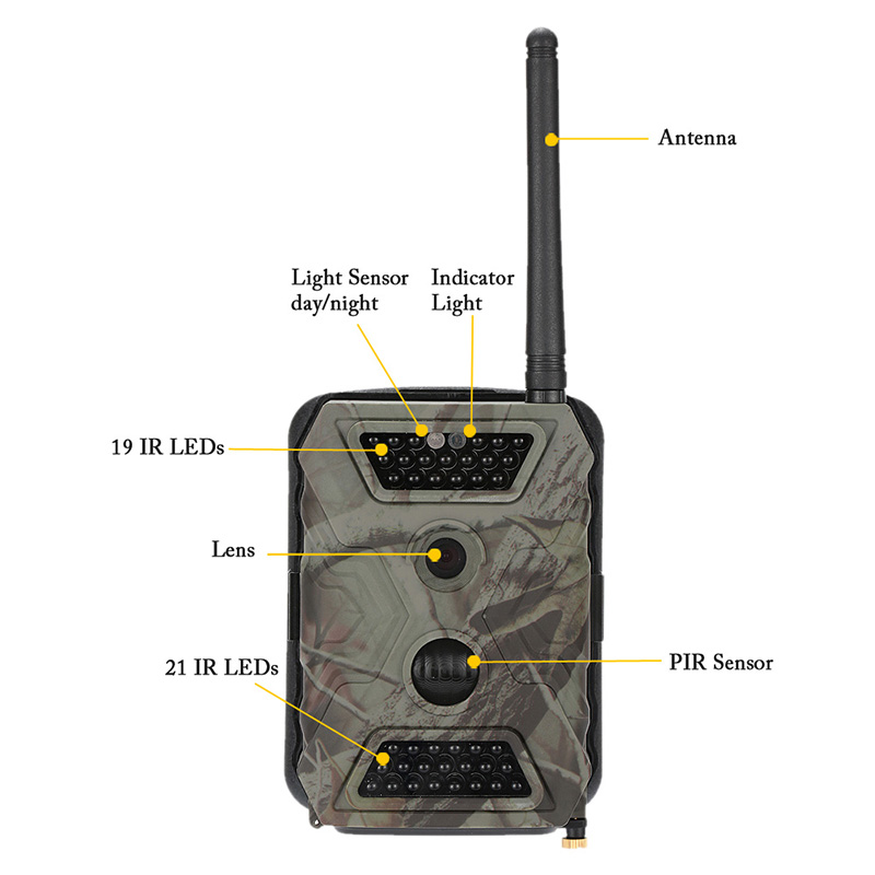 Image 3 - MMS Hunting Camera Trail Hunt Game Recorder 12MP HD Imaging IR LED Light Day & Night Available Forest Scouting Wildlife Camera-in Hunting Cameras from Sports & Entertainment