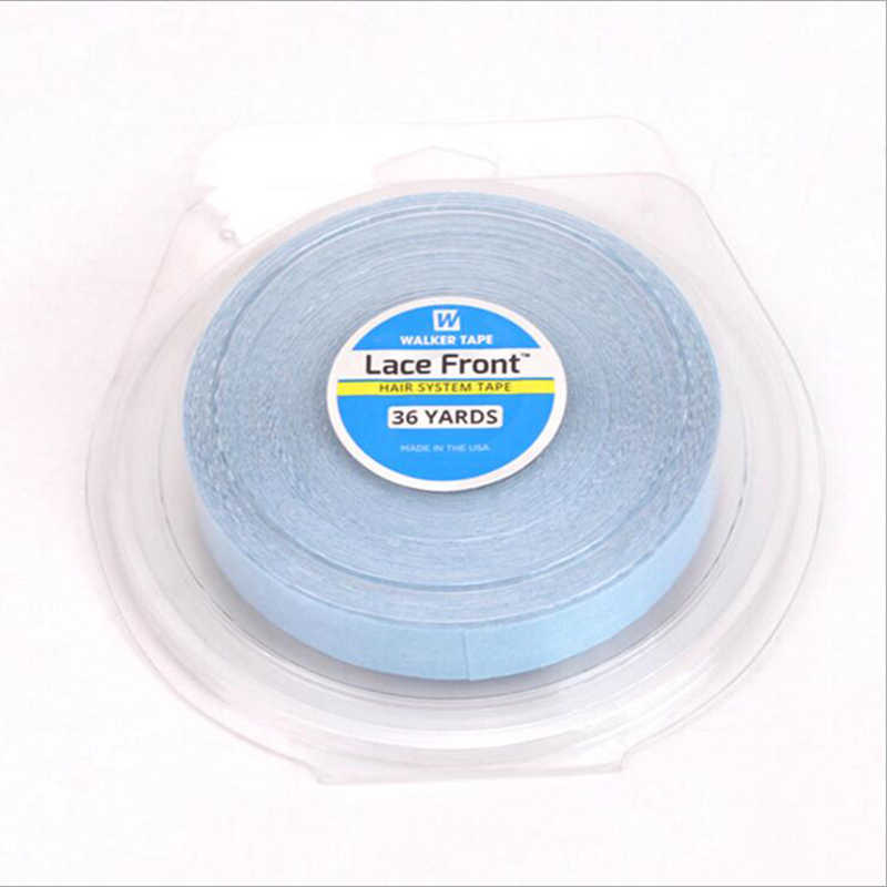 1/2inch(1.27cm)*36yards 1 roll/Lot Blue lace front wig tape Double sidedl toupee adhesive tape hair system tape