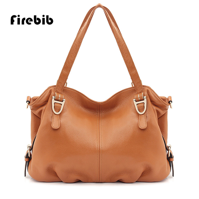 FireBib Real Cow Leather Ladies HandBags Women Genuine Leather bags Totes Messenger Bags Hign Quality Designer Luxury Brand Bag 2018 real cow leather ladies handbags women genuine leather bags tote messenger bag high quality designer luxury brand bag bolso