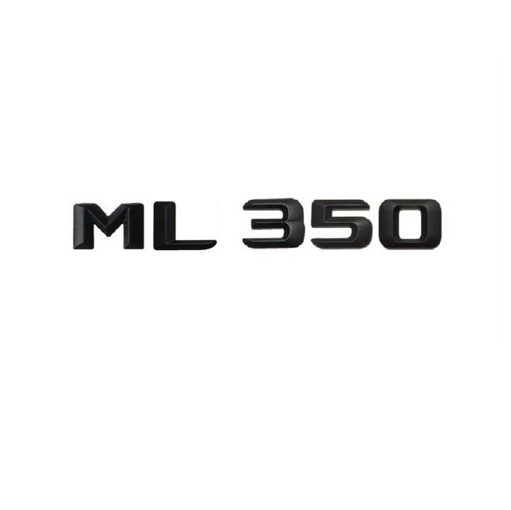 Matt Black  ML 350 Car Trunk Rear Letters Word Badge Emblem Letter Decal Sticker for Mercedes Benz Class ML350