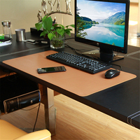 780*395mm Desk Mouse Pad Large Size PU Leather Table Mouse Mat Business Office Home Table Pad for Laptop Keyboard Wine Color