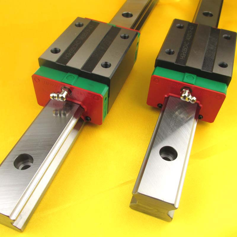 New HIWIN HGR20 Linear Guide Rail 300mm With 2Pcs Of Linear Block Carriage HGH20CA HGH20 CNC Parts 4pcs hiwin linear rail hgr20 300mm 8pcs carriage flange hgw20ca 2pcs hiwin linear rail hgr20 400mm 4pcs carriage hgh20ca