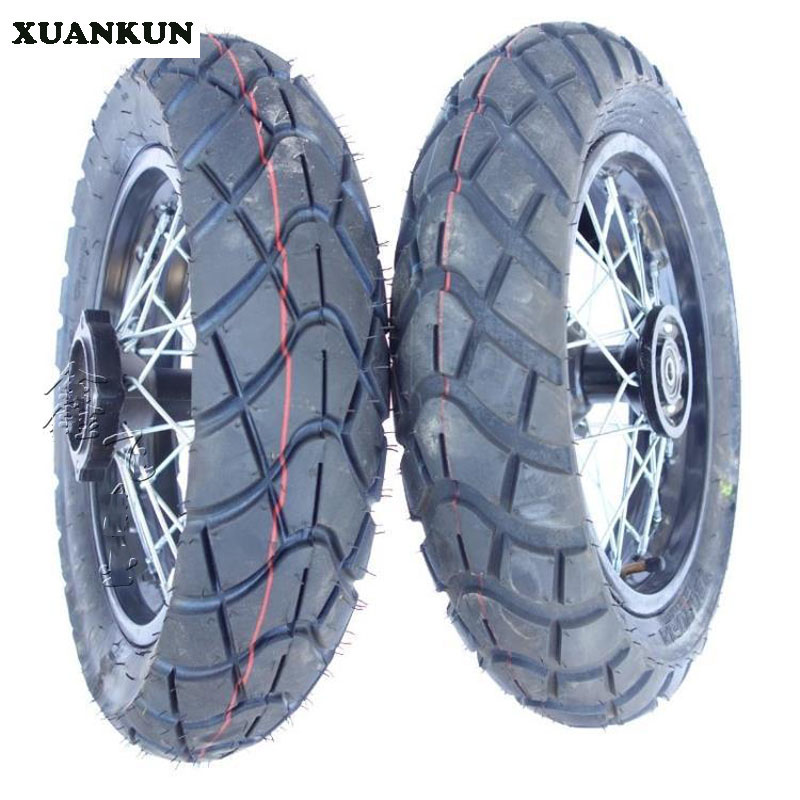 XUANKUN Off-Road Motorcycle Road Tire 120 / 70-12 Inch Tire Wheel Assembly цена