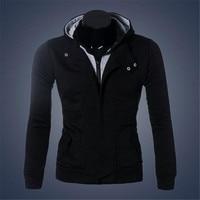 Winter Jacket Sweatshirt Men Hat Detachable Warm Coat Cotton-Padded Outwear Mens Coats Hooded Collar Slim Clothes #SF5650