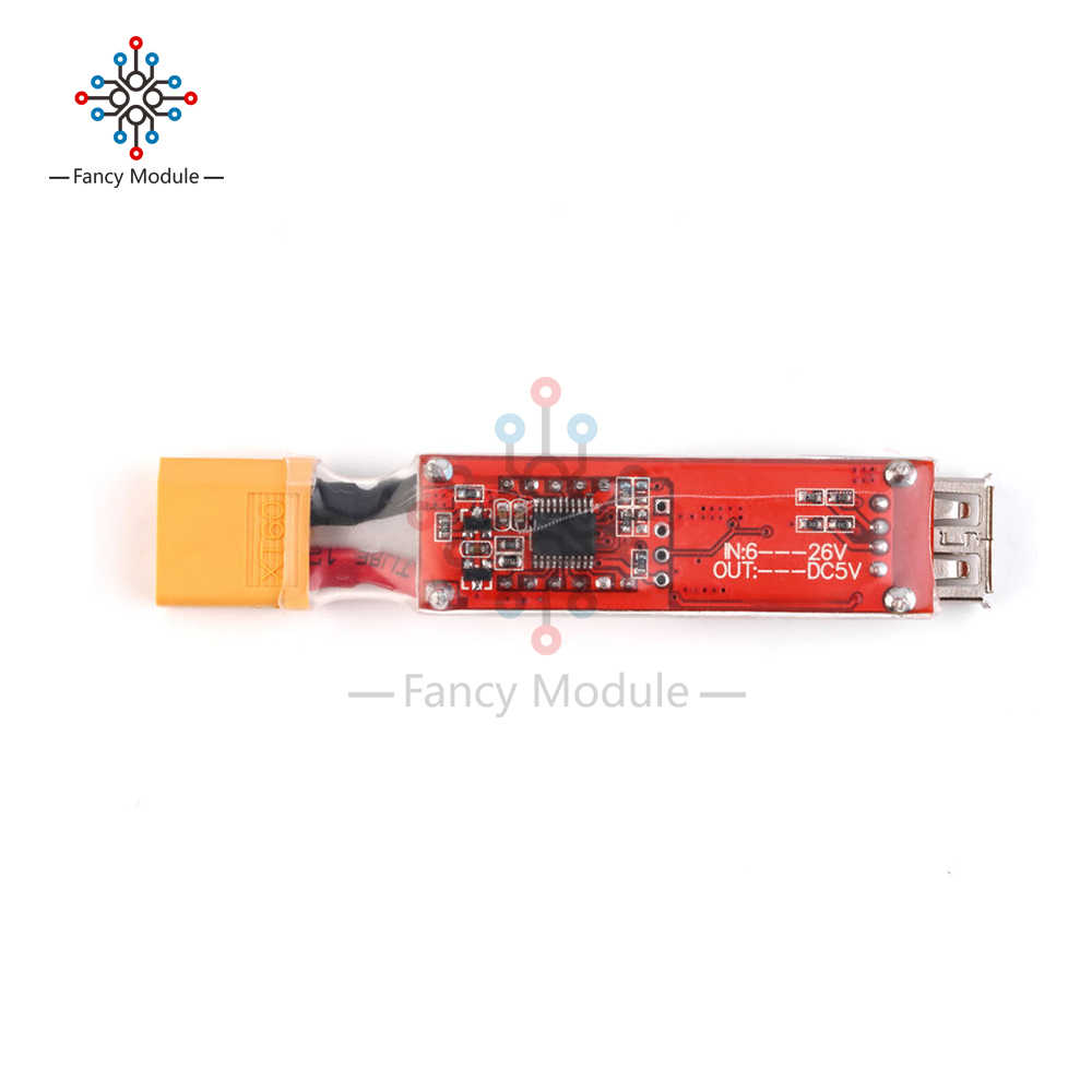 2S-6S Lithium Lipo Battery XT60 Plug to USB 5V Charger Konverter Modul Adapter
