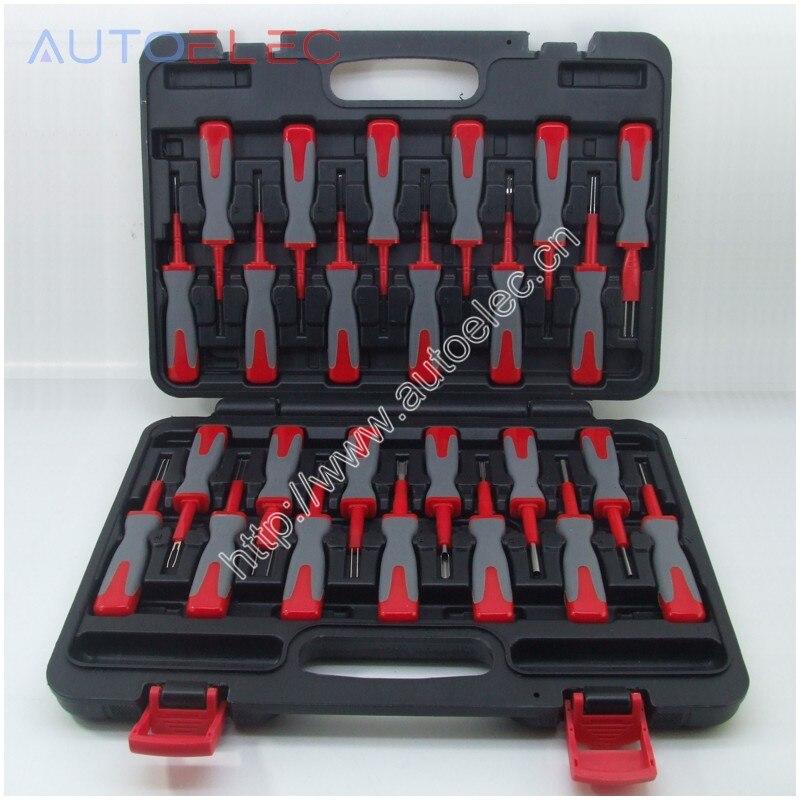 ATKITS25 outil câblage connecteur broche extracteur de déverrouillage sertissage Terminal enlèvement démonter Kit d'outils pour audi VW Molex DELPHI tyco AMP
