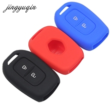 jingyuqin 2 Buttons Silicone Key Case for Renault Scenic Master Megane Duster Lo