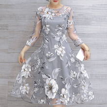 Women #8217 s Autumn Dresses Organza Floral Print Wedding Party Ball Prom Gown women Dress Princess Elegant Party Dress #LR4 cheap ISHOWTIENDA COTTON Polyester Straight beach dress Summer O-Neck Sleeveless REGULAR NONE Casual Natural Floor-Length vestidos