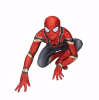 2019 Children's day Carnival Party Iron Spiderman Costume Spandex Cosplay Spider Man Kids Adult Costumes Bodysuit Suit Jumpsuit