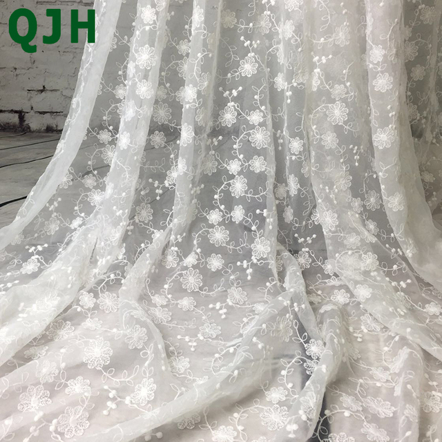 African French Lace Fabric High Quality Small Flowers Embroidery