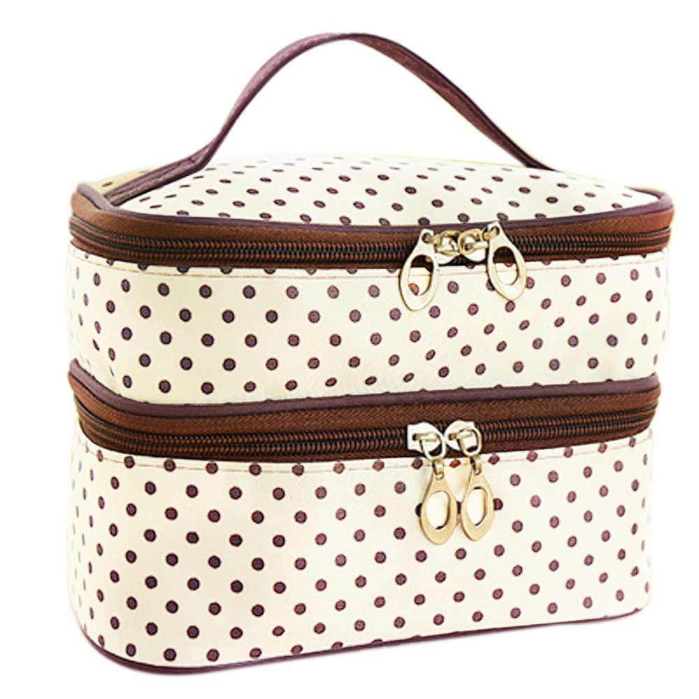 Vente voyage toilette beauté cosmétique sac étui de maquillage organisateur porte-fermeture à glissière sac à main Bolsa de maquillaje Trousse de maquillage