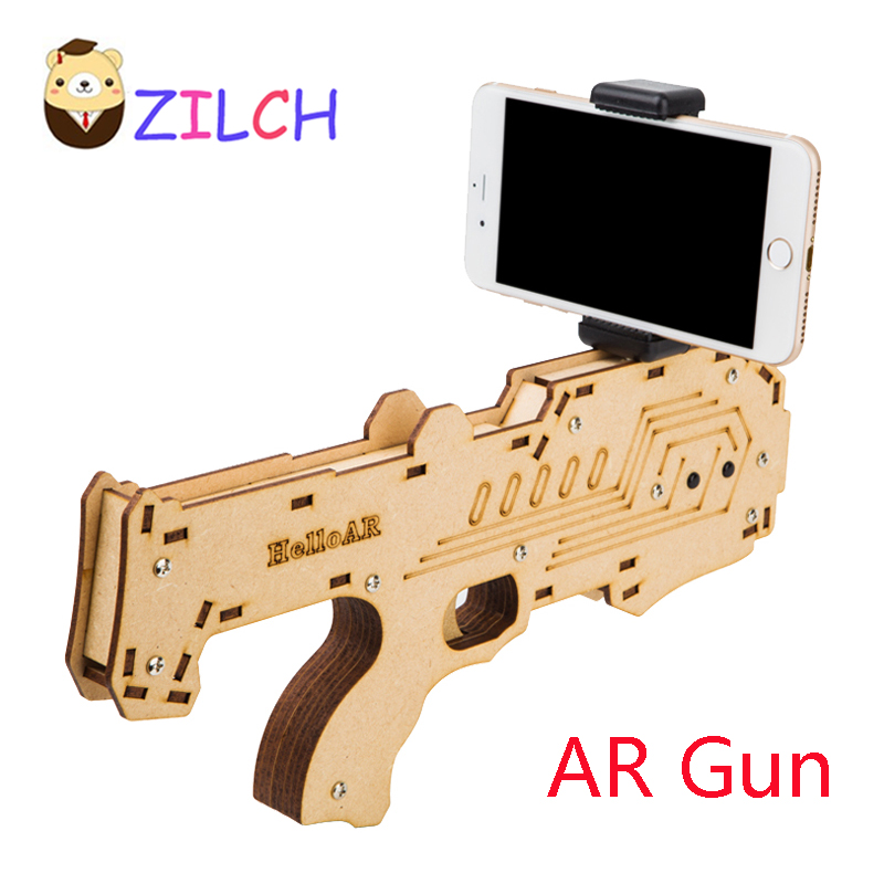 VR AR Game Gun Augmented virtual reality Gaming AR handarm Support Smartphone Shooting Games DIY Toy Gun for Android iOS Phones