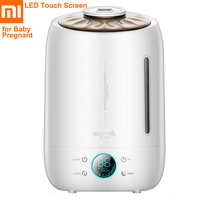 Xiaomi Deerma DEM F500 5L Air Humidifier Ultrasonic Quiet Aroma Mist Maker LED Touch Screen Timing Function Home Water Diffuser