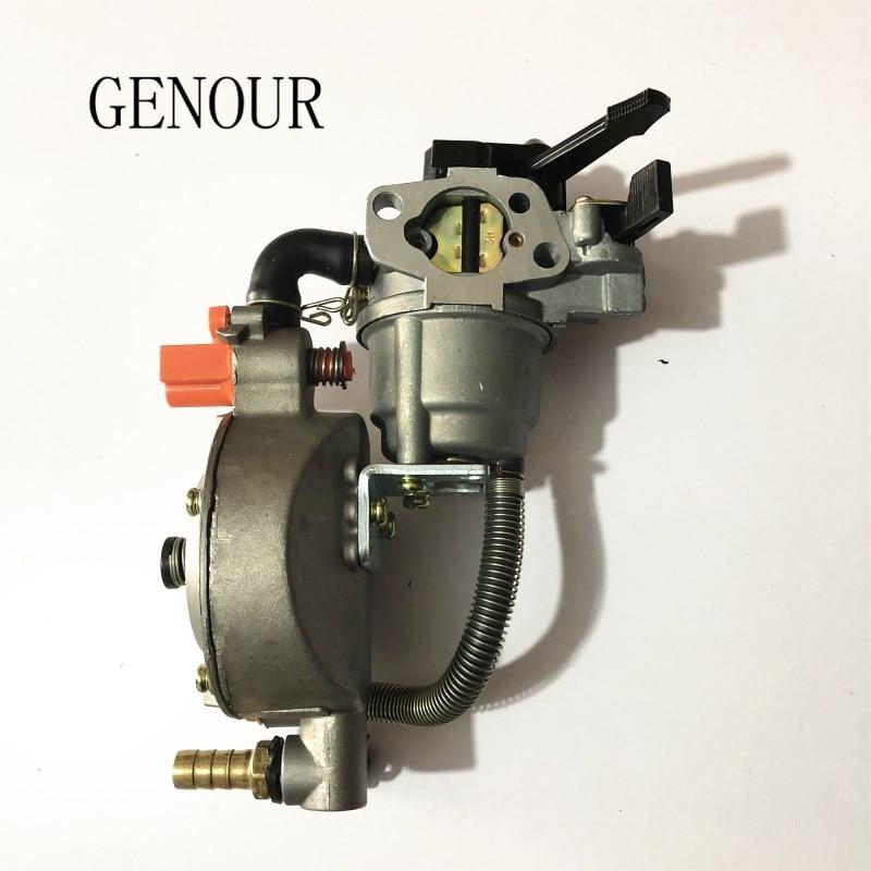 novo design jiwannian lpg cng carburador tres vias kit de conversao para gx160 gx200 motor gasolina