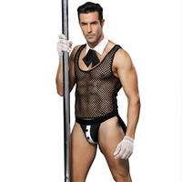 valet uniform for man sexy perspective male cosplay servant sexy lingerie maid uniform costumes sexy uniforms free shipping